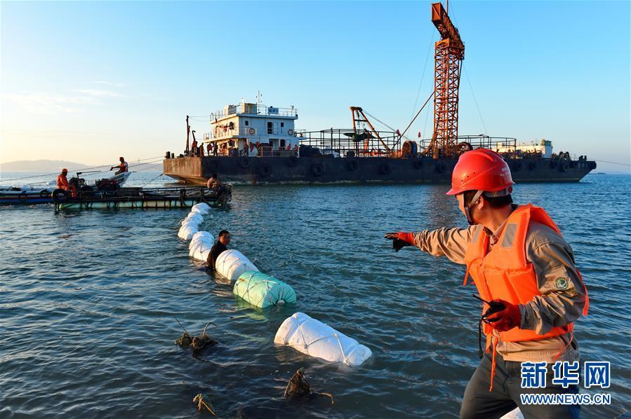 (经济)(1)福建湄洲岛首条110千伏海底电缆敷设告成