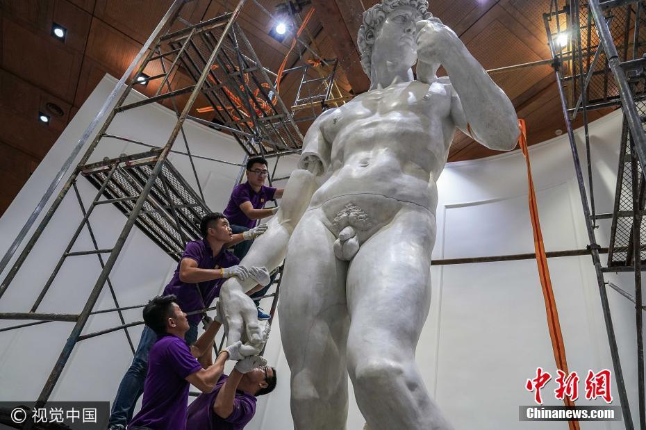 2017年7月9日至10日,米开朗基罗最为著名的《大卫》