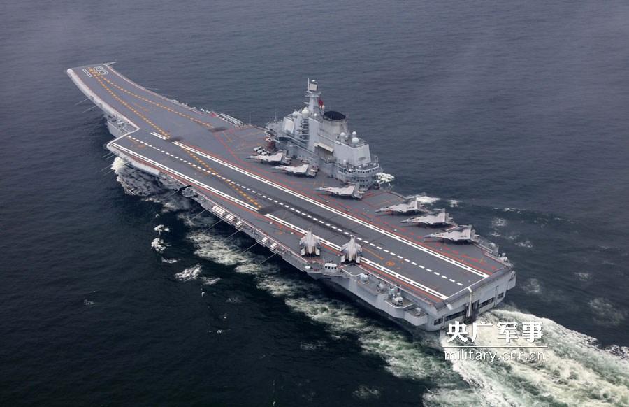 海军航母编队离开香港后立即开展协同训练