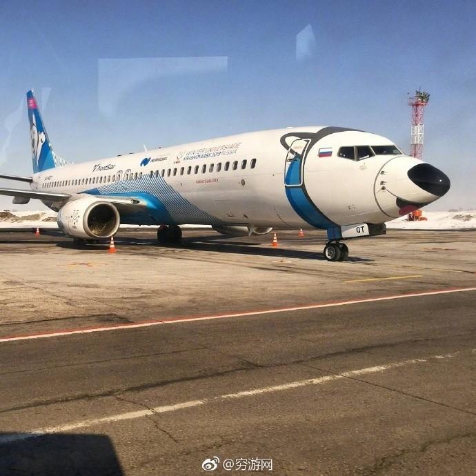 俄罗斯一航空公司飞机变身哈士奇