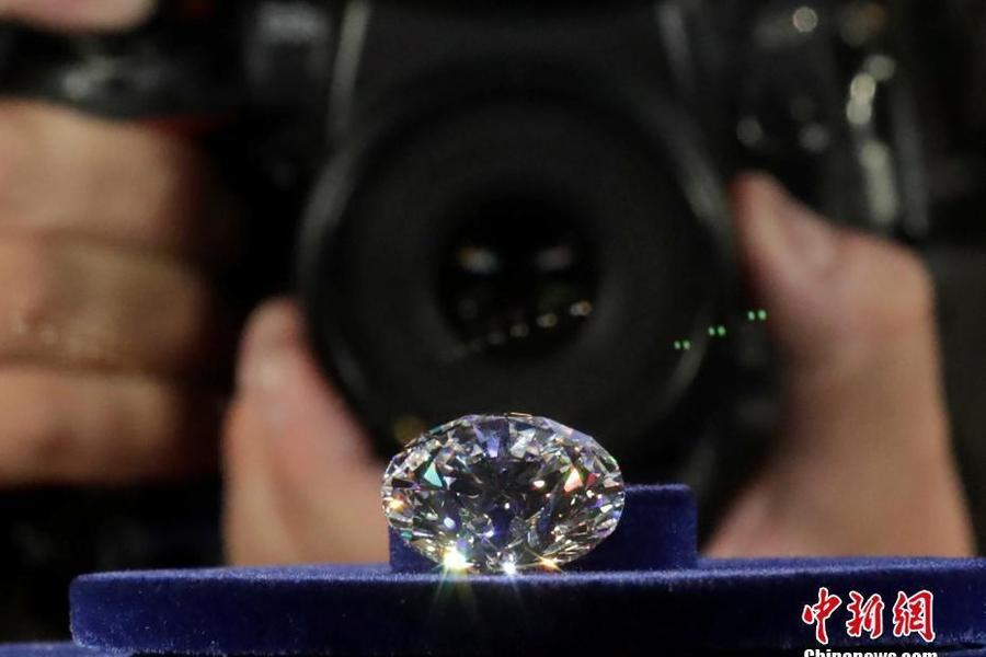 俄罗斯展示51克拉&quot王朝&quot钻石原石179克拉