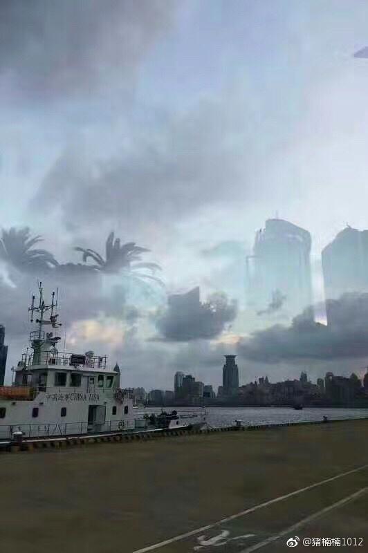 上海北外滩现海市蜃楼?官方辟谣:图片p得太假了