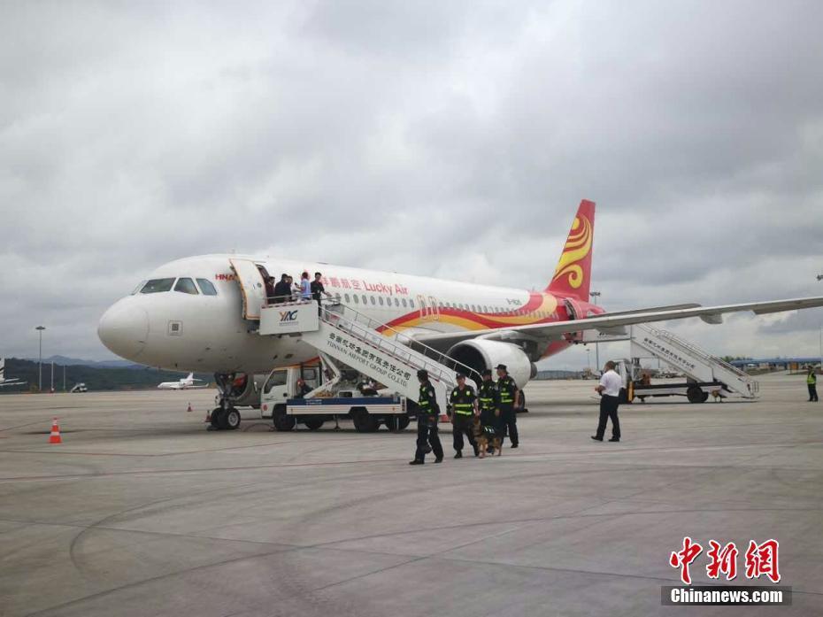 昆明长水机场一旅客谎称飞机有炸弹 已被警方控制