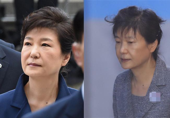 头发在风中凌乱表情包-罕见 朴槿惠出庭未戴发卡 斑驳白发风中凌乱图片