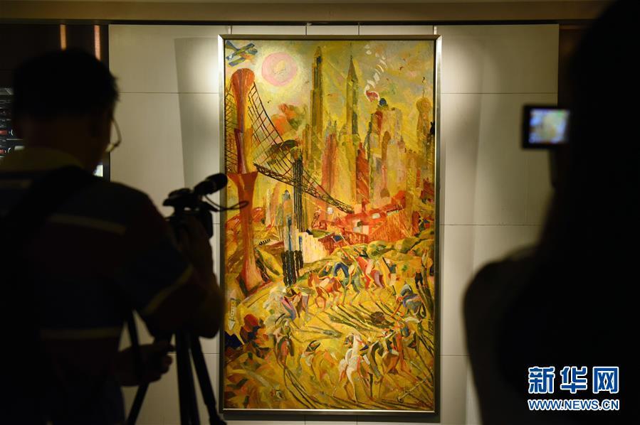 (文化)(1)香港苏富比展出本季秋拍估值最高的现代油画