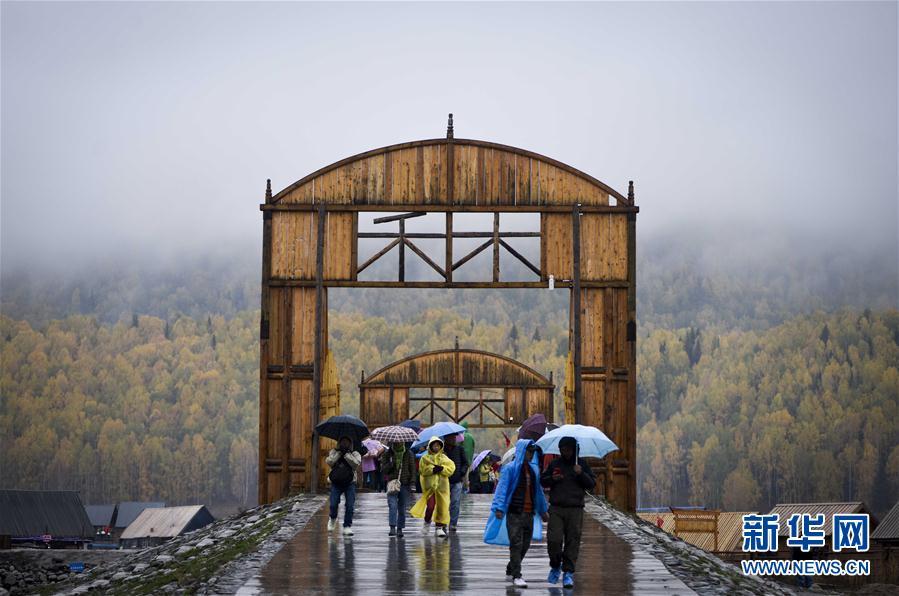 (美丽中国)(2)新疆禾木:雨中仙境