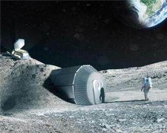 欧洲航天局发布3D打印月球基地效果图