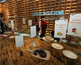 杭州文博会惊现面包墙和小麦地毯