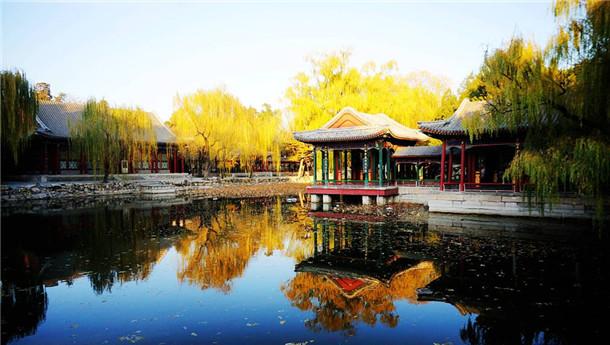 颐和园初冬景 京城晴日暖阳美如画