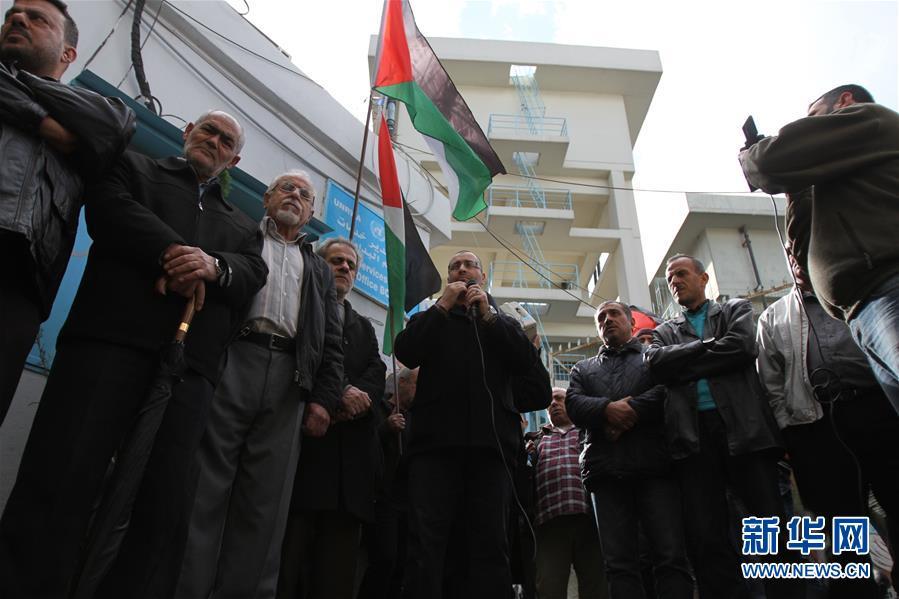 (XHDW)在黎巴勒斯坦难民抗议美国承认耶路撒冷为以色列首都