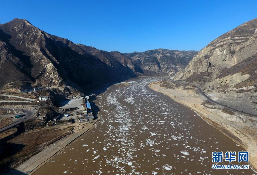 #(环境)(2)黄河龙门段出现流凌