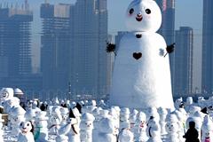 2018个雪人亮相哈尔滨