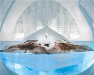 瑞典冰雪酒店3万立方米冰雪