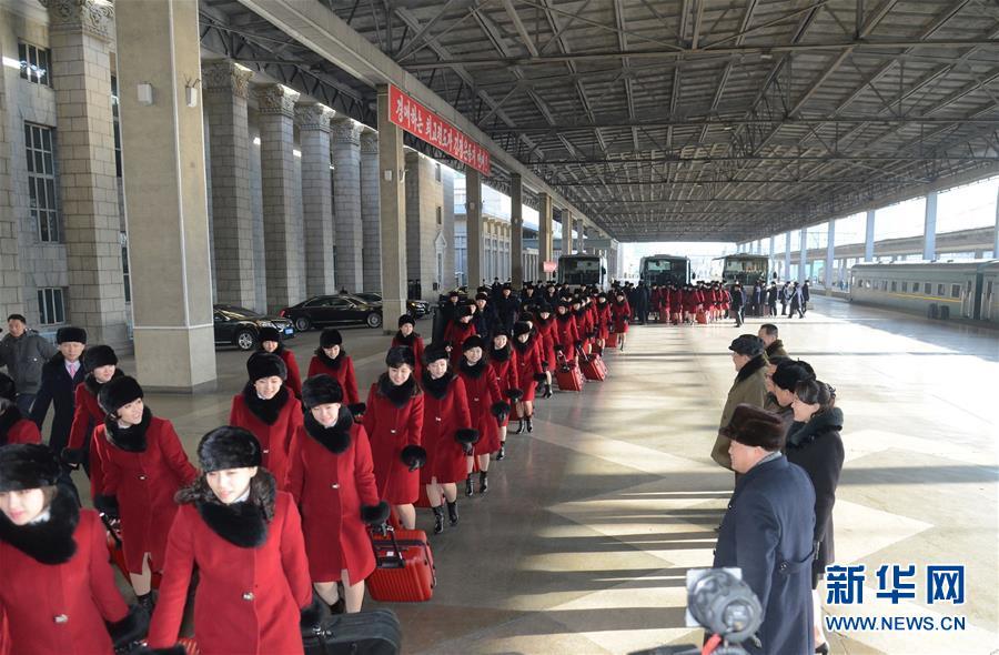 (国际)朝鲜艺术团启程赴韩国演出