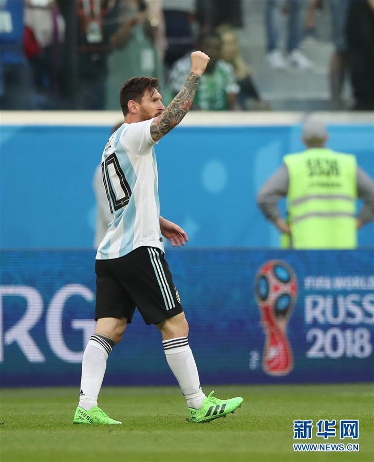 【世界杯】阿根廷队梅西首开纪录