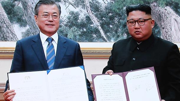 韩朝领导人结束第二轮首脑会谈-签署9月平壤共同宣言.jpg