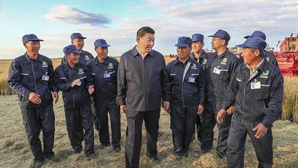 """习近平感慨北大荒的沧桑巨变""""了不起"""".jpg"""
