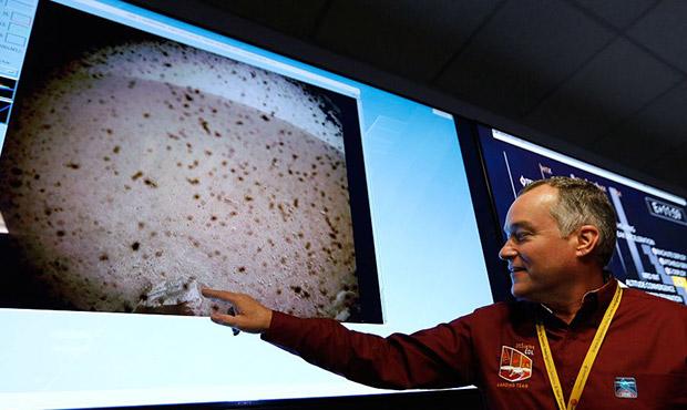 """""""洞察""""号无人探测器成功登陆火星-传回首张照片.jpg"""