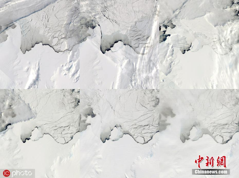南极洲巨大冰山崩落 科学家称与气候变迁无关