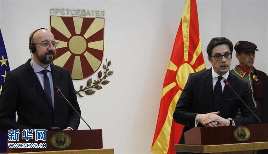 欧洲理事会主席与阿尔巴尼亚和北马其顿领导人讨论入盟问题