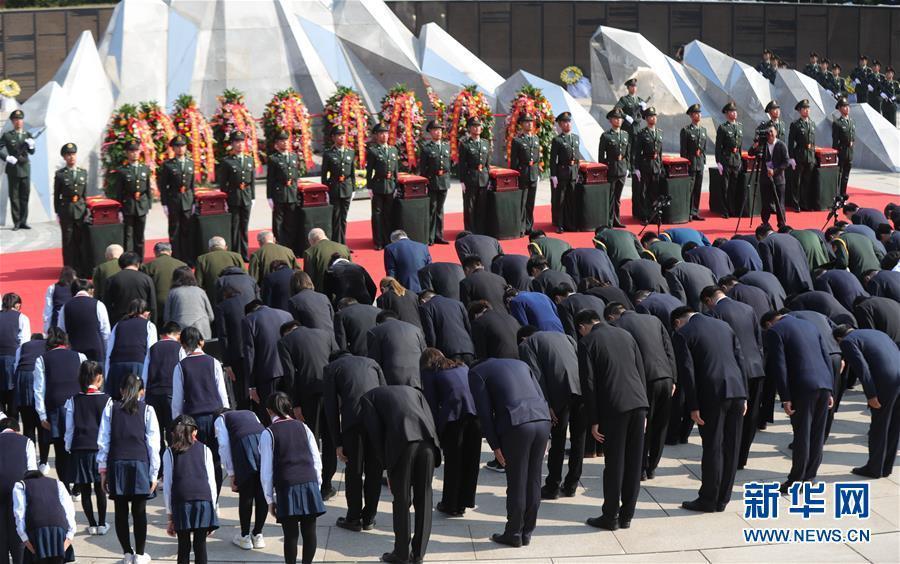 第七批在韩志愿军烈士遗骸迎接安葬记
