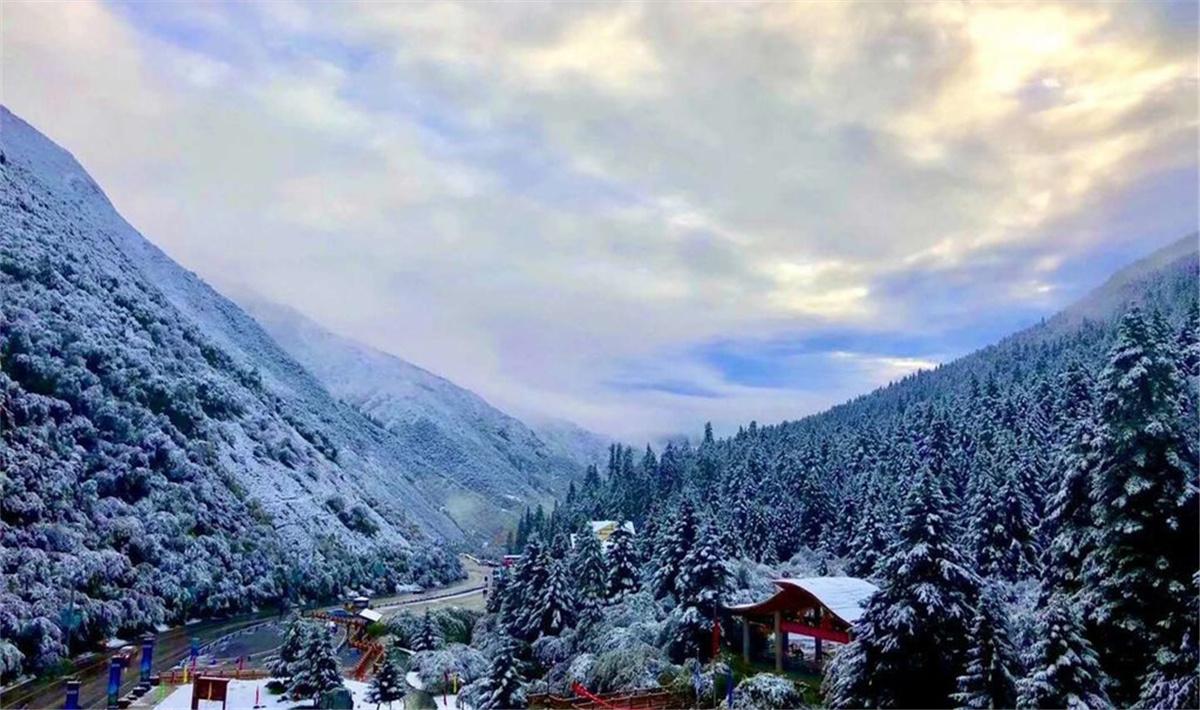 第一場雪來了!九寨溝、黃龍、四姑娘山開啟雪景模式.jpg