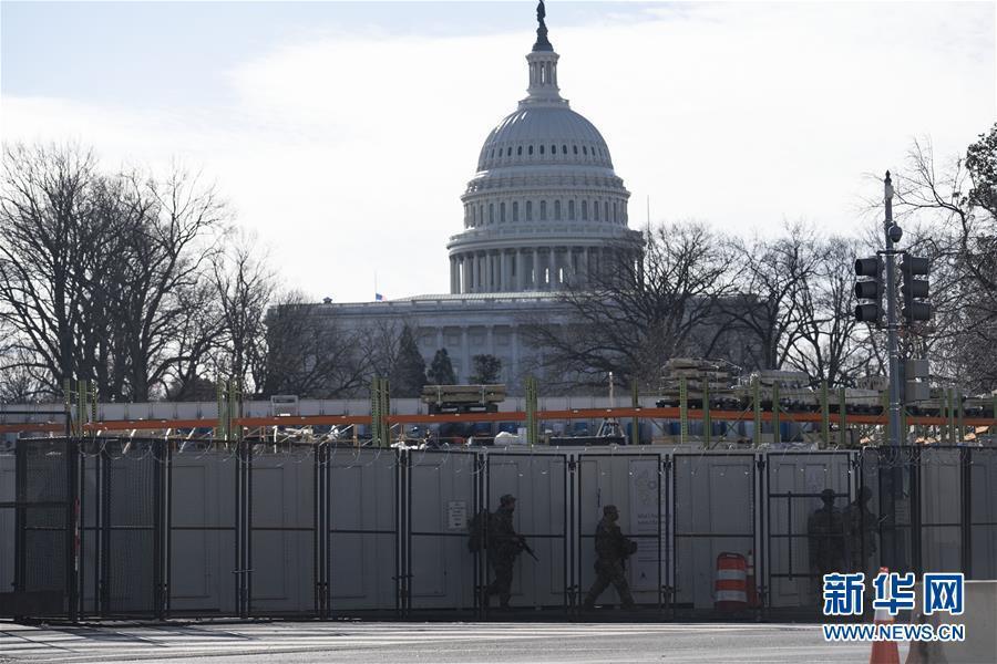 (国际)(1)美国国会大厦因附近火灾被临时封锁