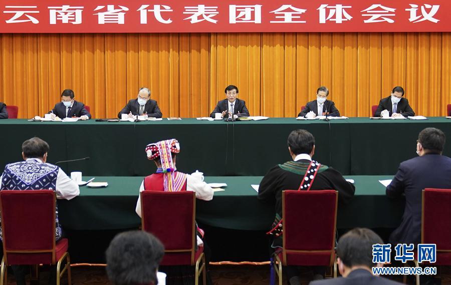 王沪宁参加云南代表团审议